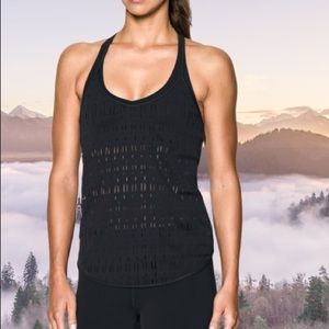 Ladder Mesh Tank Top Athletic Workout Oversized L
